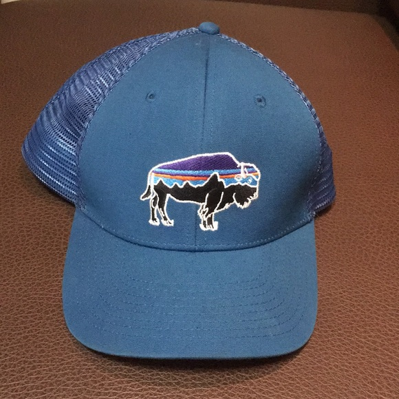 Men s Patagonia Fitz Roy Bison trucker hat. M 5b275c2934a4ef379e271b47 d4744074b4b6
